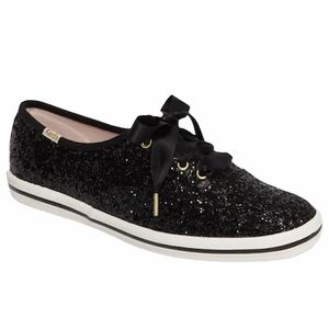 KEDS x KATE SPADE Collab Black Glitter Sneaker 5